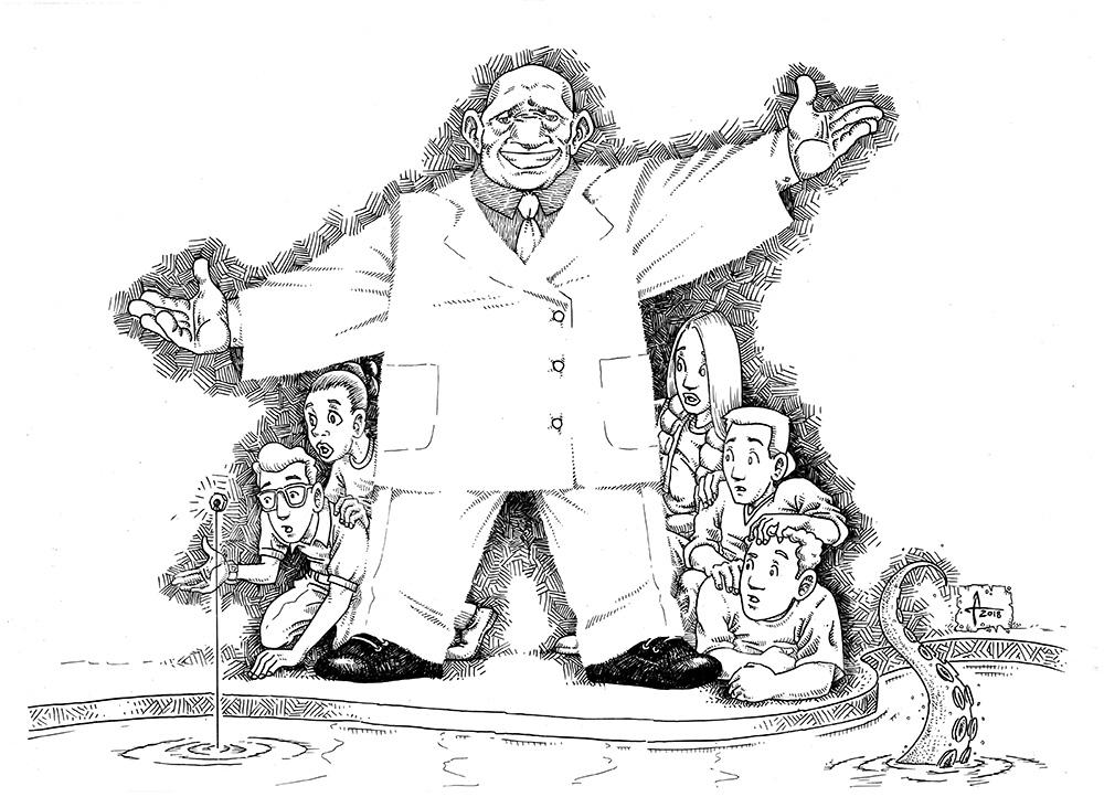 los seis dedos de la mano de la justicia ilustracion